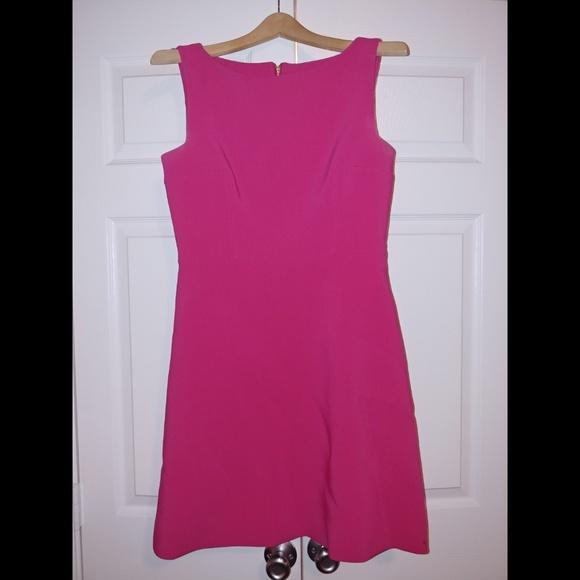 Kate spade pink dress with black zipper detail
